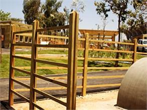 גדרות עץ פארק כפר סבא